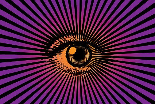 All Seeing Eye Stock Vektor Art und mehr Bilder von Augapfel