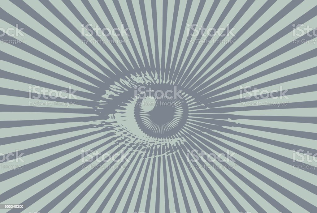 All seeing eye - Royalty-free Close-up vectorkunst