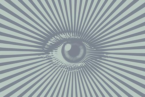 All Seeing Eye Stockvectorkunst en meer beelden van Close-up