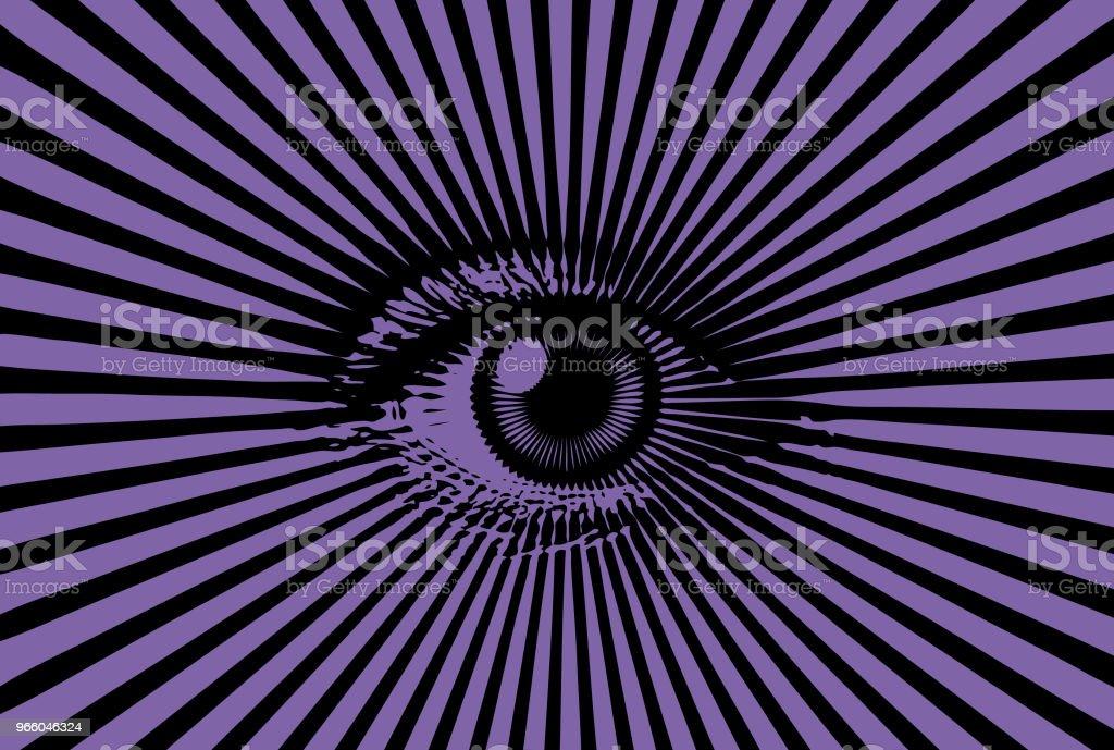 All seeing eye - Royalty-free Beschrijvende kleur vectorkunst