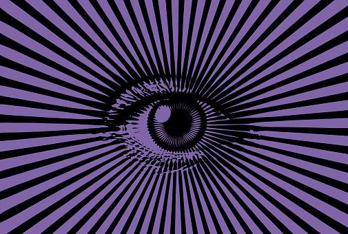 All Seeing Eye Stockvectorkunst en meer beelden van Beschrijvende kleur