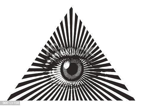 Engraving vector of all seeing eye
