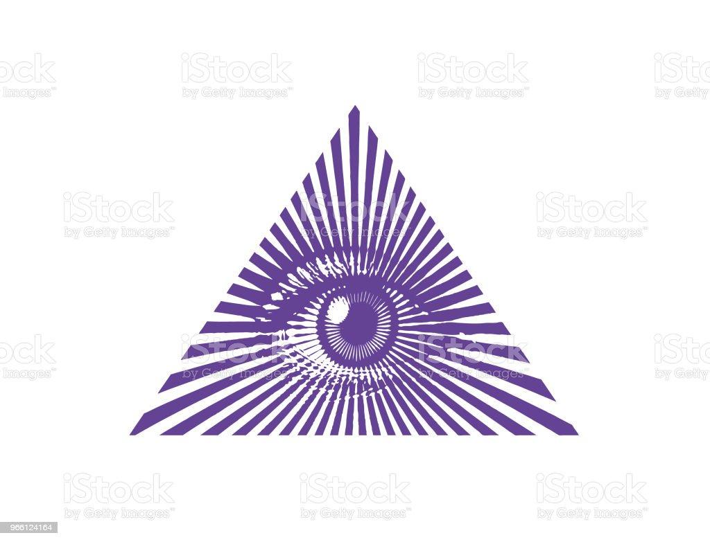 All seeing eye - Royalty-free Arte Linear arte vetorial