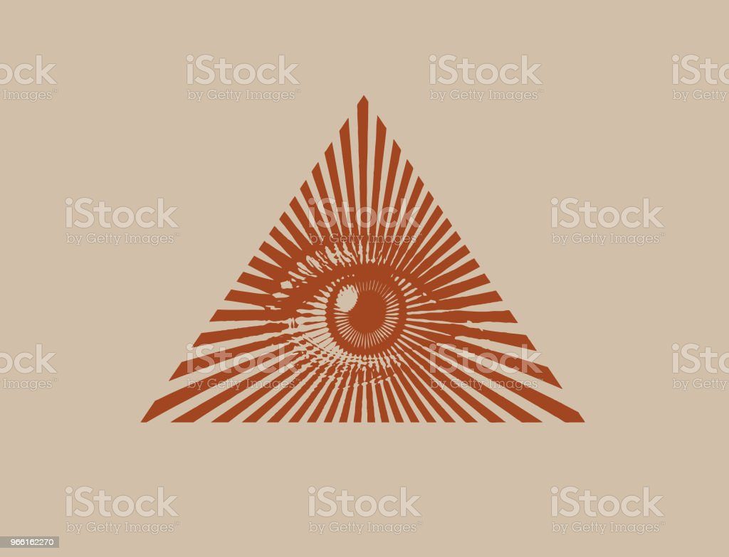 All seeing eye - Royalty-free Bruin vectorkunst