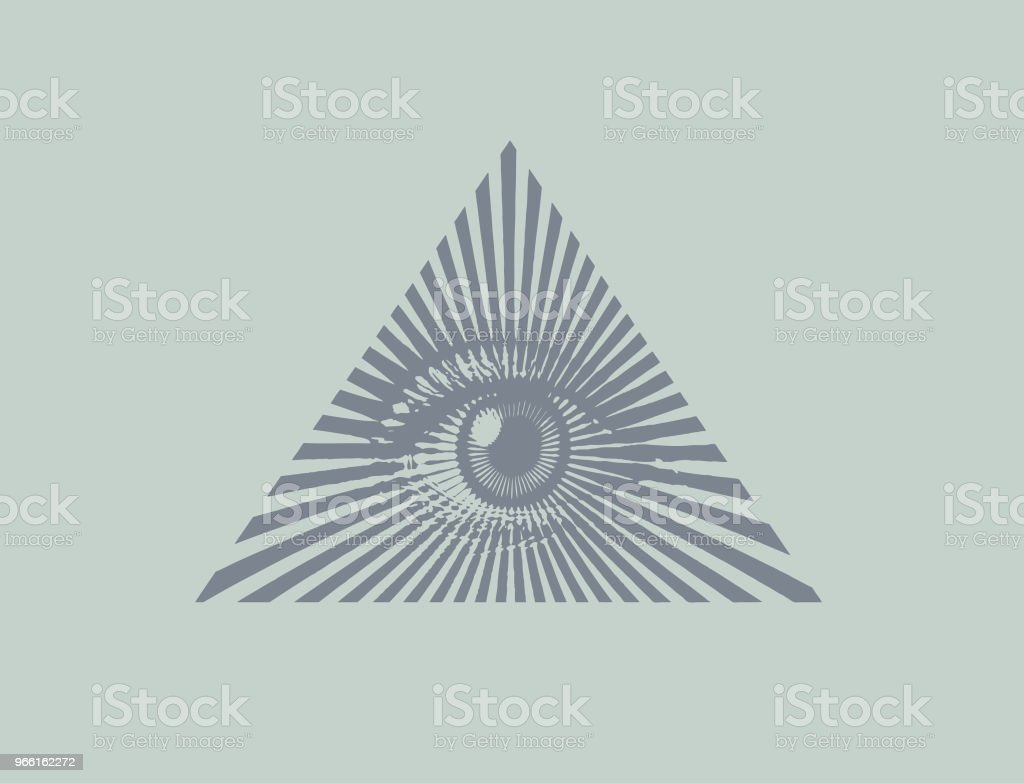 All seeing eye - Векторная графика Freemasons роялти-фри