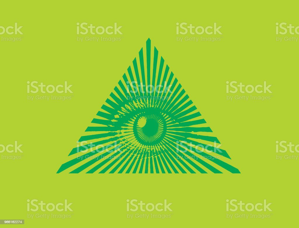 All seeing eye - Векторная графика Freemasons роялти-фри