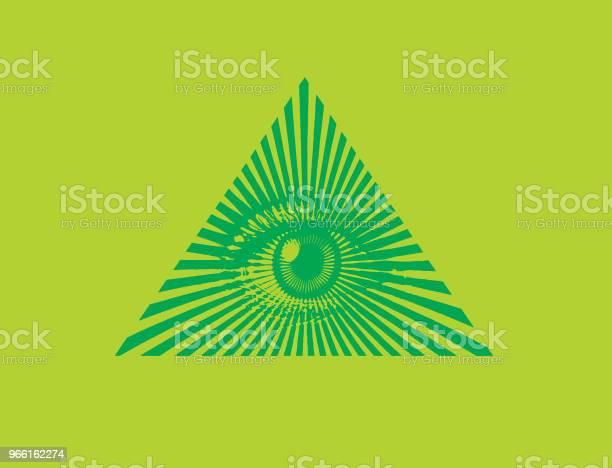 Все Видя Глаза — стоковая векторная графика и другие изображения на тему Freemasons
