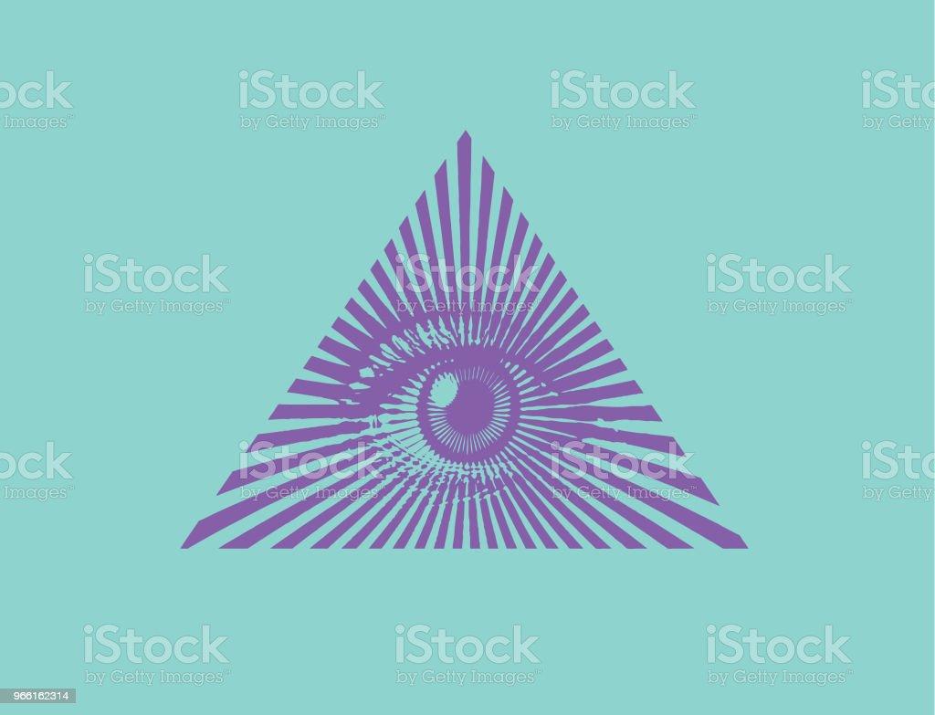 Alla seende ögat - Royaltyfri Andlighet vektorgrafik