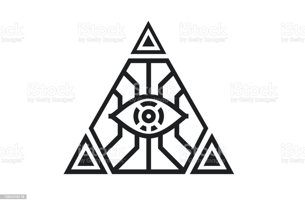 all seeing icon illustration the symbol of the illuminati eye in the