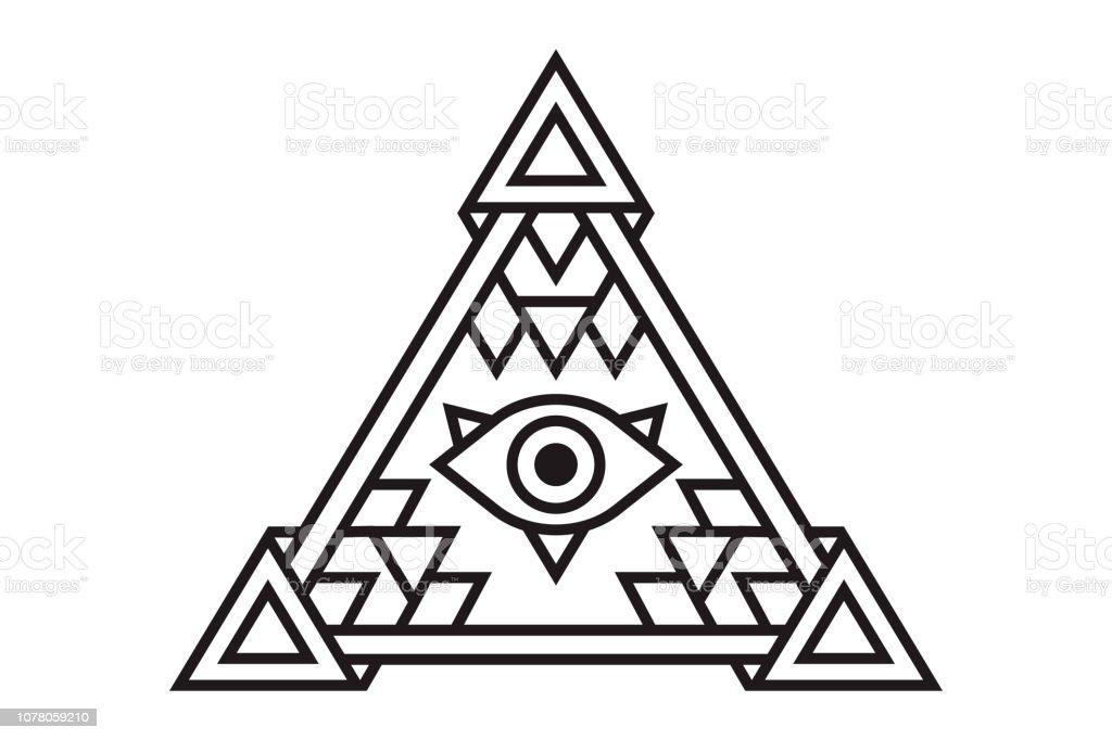 29030467e7e94 Ilustración de icono Ver todos. El símbolo del ojo Illuminati de la pirámide