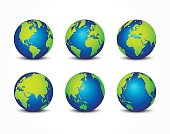 all side of planet ( around the world ) ( earth conservation concept )
