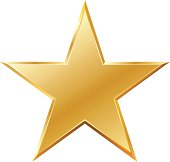 Vector dimensional metallic gold star for your design needs.