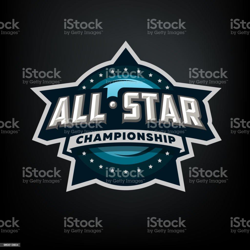 All star sports, template symbol design. vector art illustration