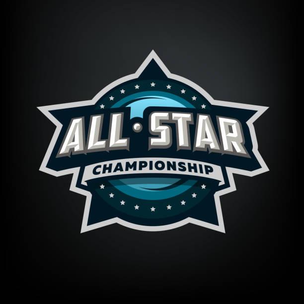 illustrations, cliparts, dessins animés et icônes de tous les sports star, modèle de symbole. - hockey