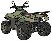 Hand drawing of a green all terrain vehicle - not a real model