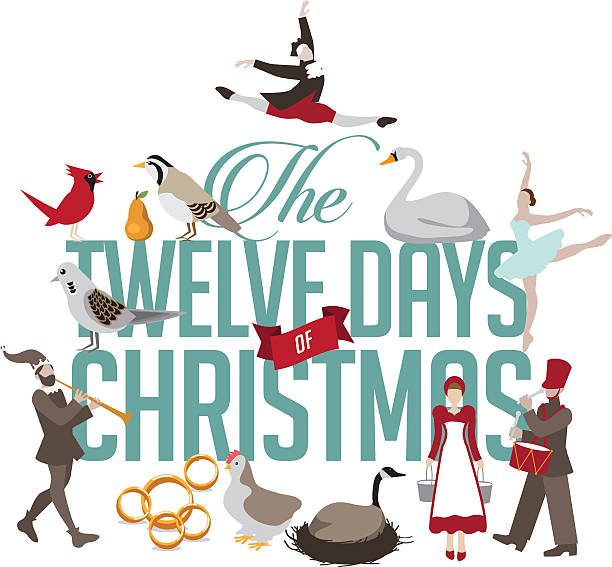 Best The Twelve Days Of Christmas Illustrations Royalty Free Vector