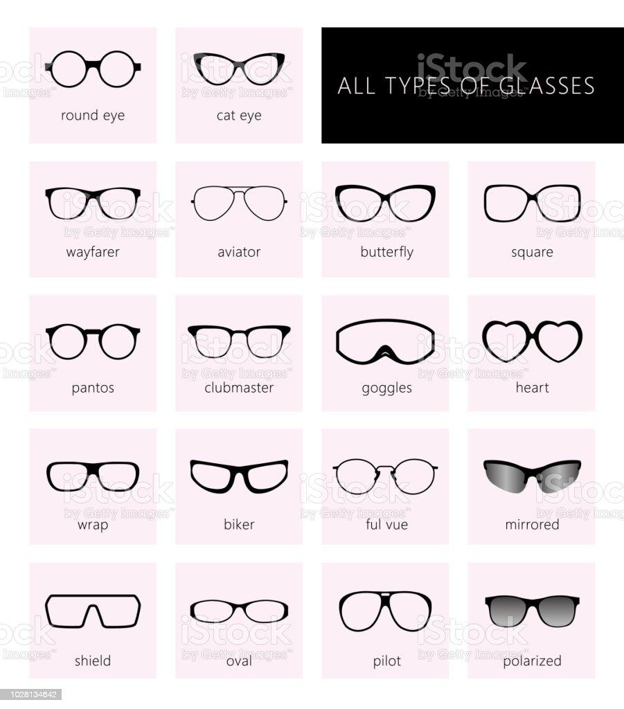 f3e0b0fb81e All types of glasses royalty-free all types of glasses stock vector art   amp
