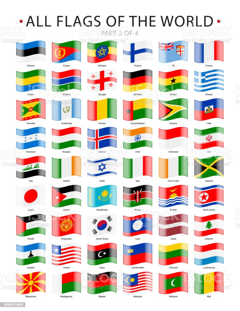 All waving world flags vector icons collection stock vector art all waving world flags vector icons collection royalty free all waving world flags vector gumiabroncs Image collections