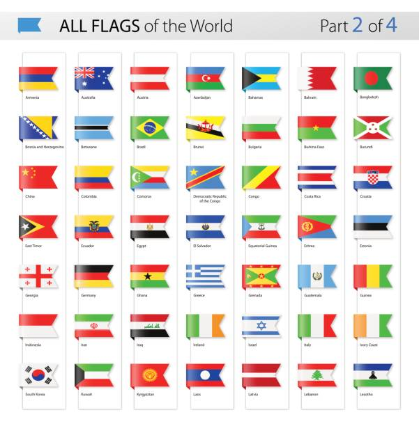 all world bookmark label vector flags - collection - ドイツの国旗点のイラスト素材/クリップアート素材/マンガ素材/アイコン素材