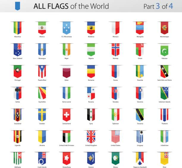 all world bookmark label vector flags - collection - union jack flag stock illustrations, clip art, cartoons, & icons