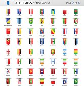 All World Bookmark Label Vector Flags - Collection