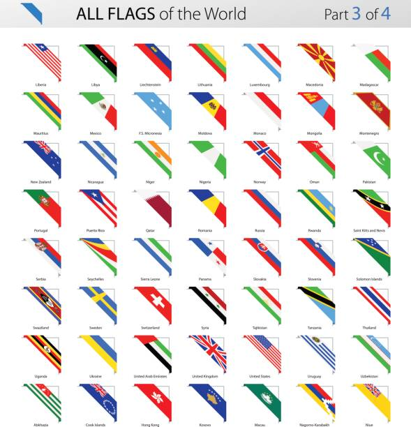 すべて世界コーナー ベクトル フラグ - コレクション - ユニオンジャックの国旗点のイラスト素材/クリップアート素材/マンガ素材/アイコン素材