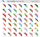 All World Corner Vector Flags - Collection