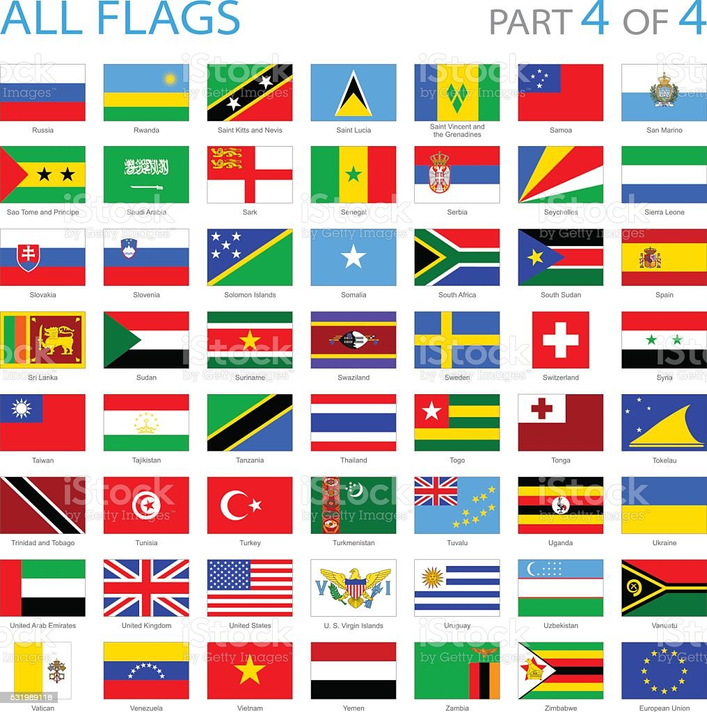 All World Flag Icons - Illustration vector art illustration