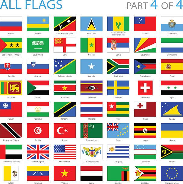 all world flag icons - illustration - spanish flag stock illustrations, clip art, cartoons, & icons