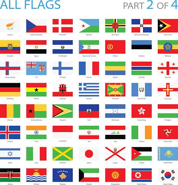 ilustraciones, imágenes clip art, dibujos animados e iconos de stock de todas las banderas del mundo-ilustración - bandera de ecuador
