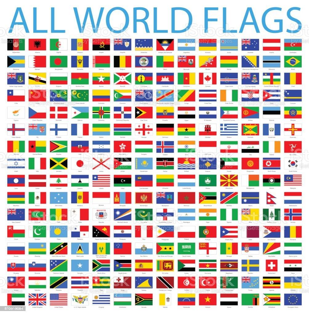 所有世界標誌-向量圖示集 - 免版稅中國國旗圖庫向量圖形
