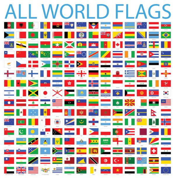 All World Flags - Vector Icon Set vector art illustration