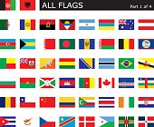 All World Flags part 1 with aspect ratio of 2:3