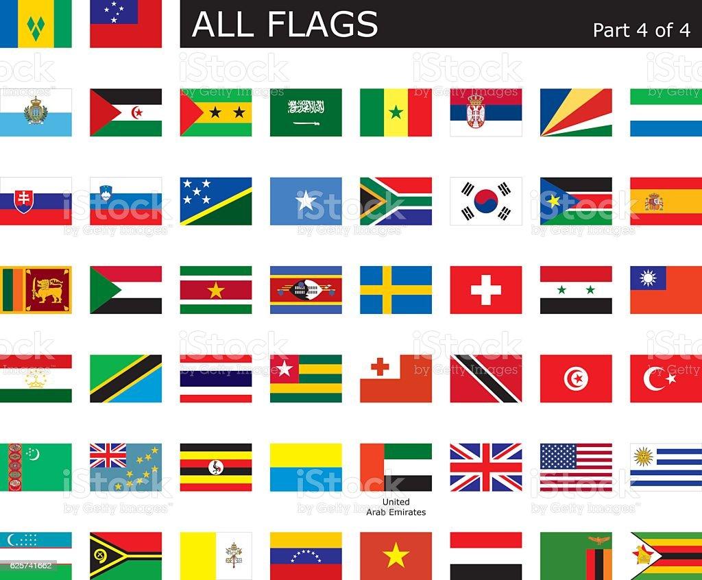 Alle Welt Flags – Vektorgrafik