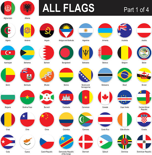 alle welt flags - flagge chile stock-grafiken, -clipart, -cartoons und -symbole