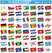 Full Collection of World Flags in Alphabetical Order