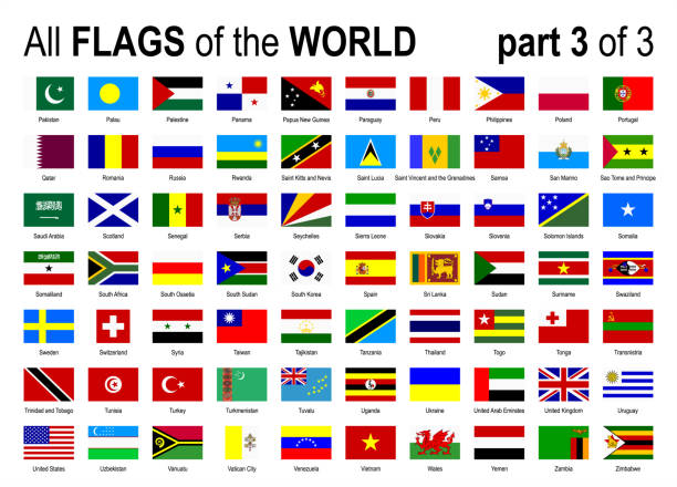 All World National Flags Icon Set - Alphabetically - part 3 of 3 - Vector Illustration All World National Flags Icon Set - Alphabetically - part 3 of 3 - Vector Illustration alphabet clipart stock illustrations