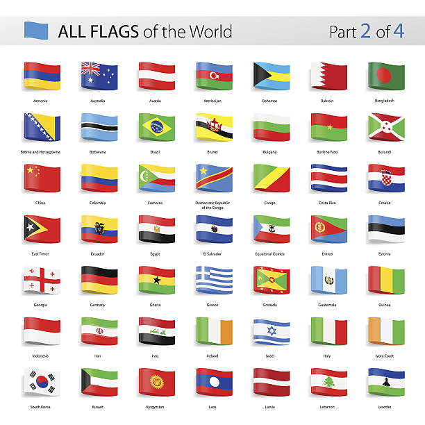 all world tag vector flags - collection - flagge irland stock-grafiken, -clipart, -cartoons und -symbole