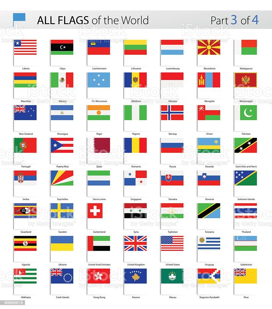 All World Vector Flag Pins Collection Stock Vector Art More Images - Flag pins for maps