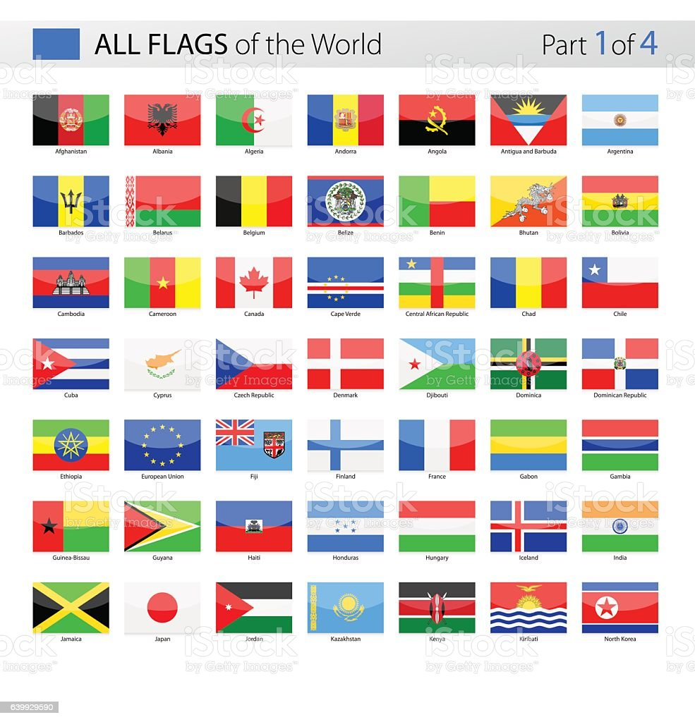All World Vector Flags - Collection vector art illustration
