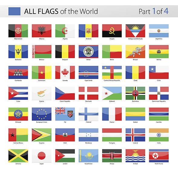 All World Vector Flags - Collection - ilustración de arte vectorial