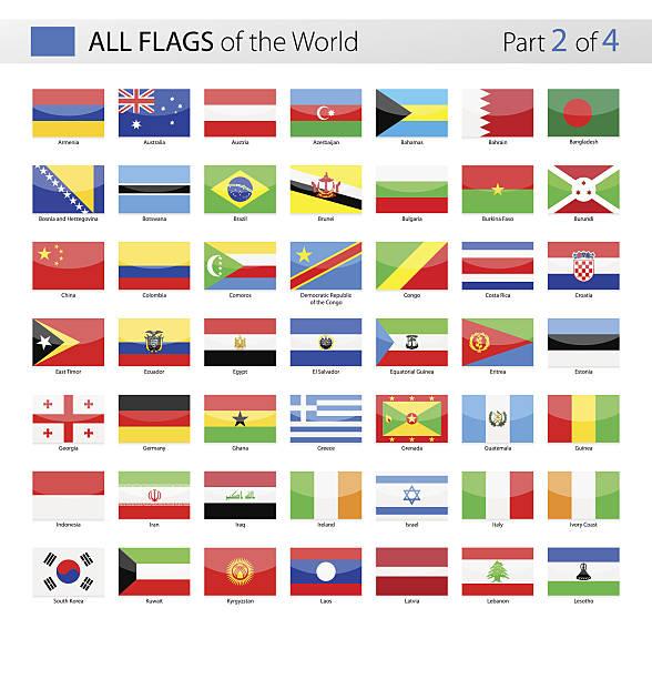 all world vector flags - collection - アイルランドの国旗点のイラスト素材/クリップアート素材/マンガ素材/アイコン素材