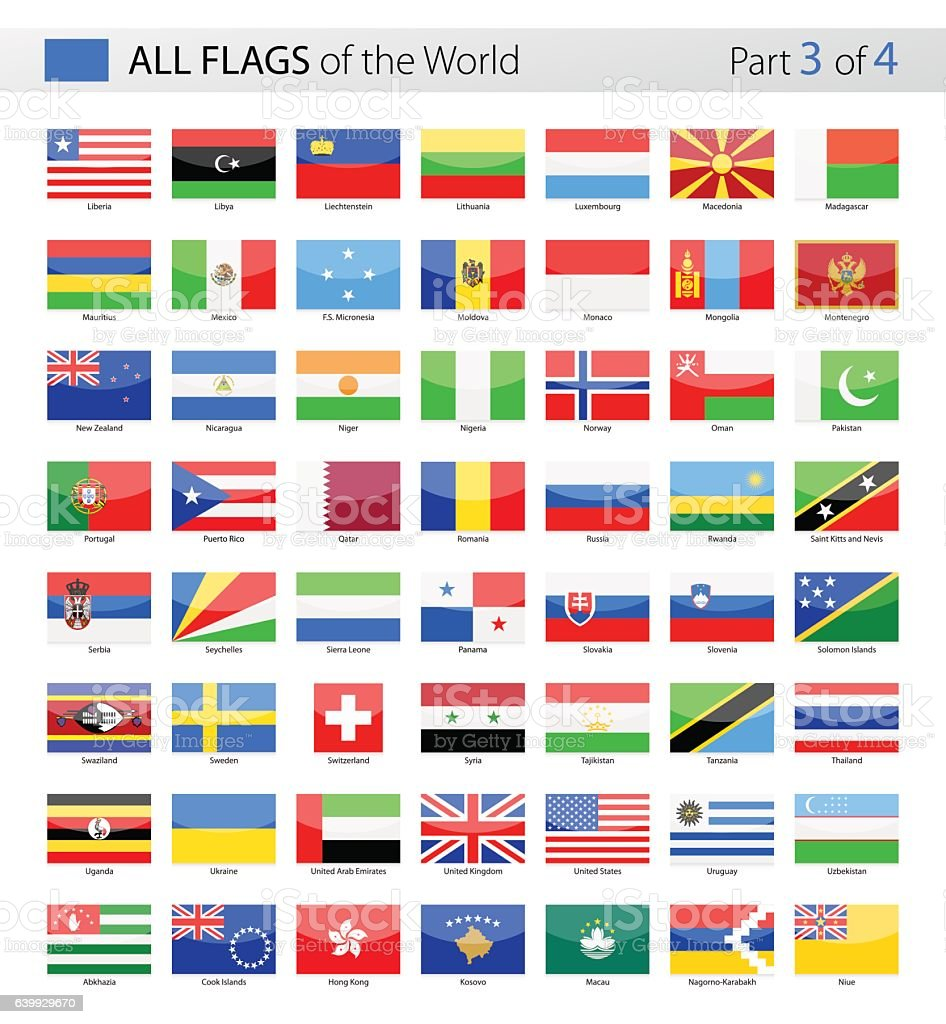 All World Vector Flags - Collection ベクターアートイラスト
