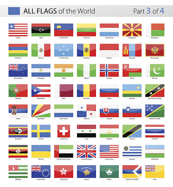 all world vector flags - collection - メキシコの国旗点のイラスト素材/クリップアート素材/マンガ素材/アイコン素材