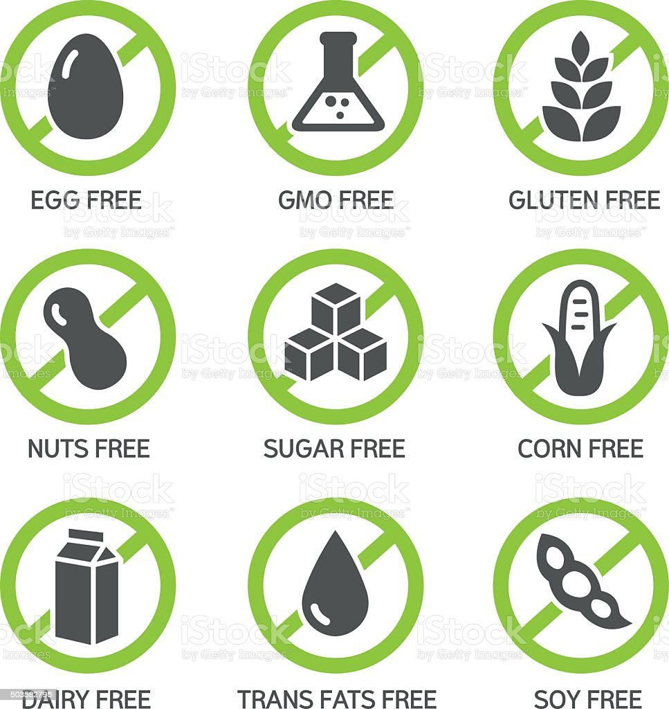 Allergens Icons Stock Illustration - Download Image Now ...