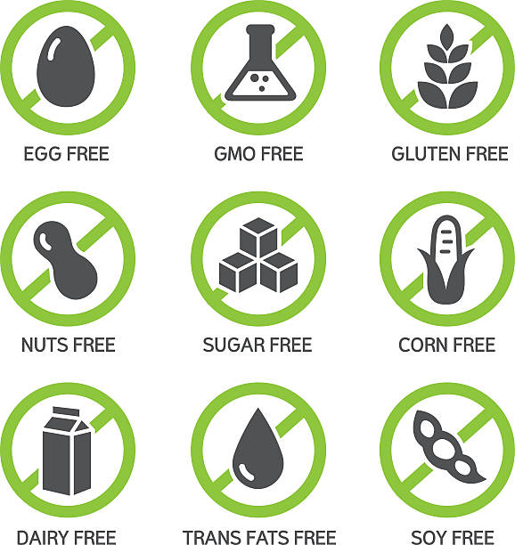 Allergens Icons vector art illustration