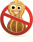 A fun peanut free allergy sign. The facial features can easily be removed if not desired.