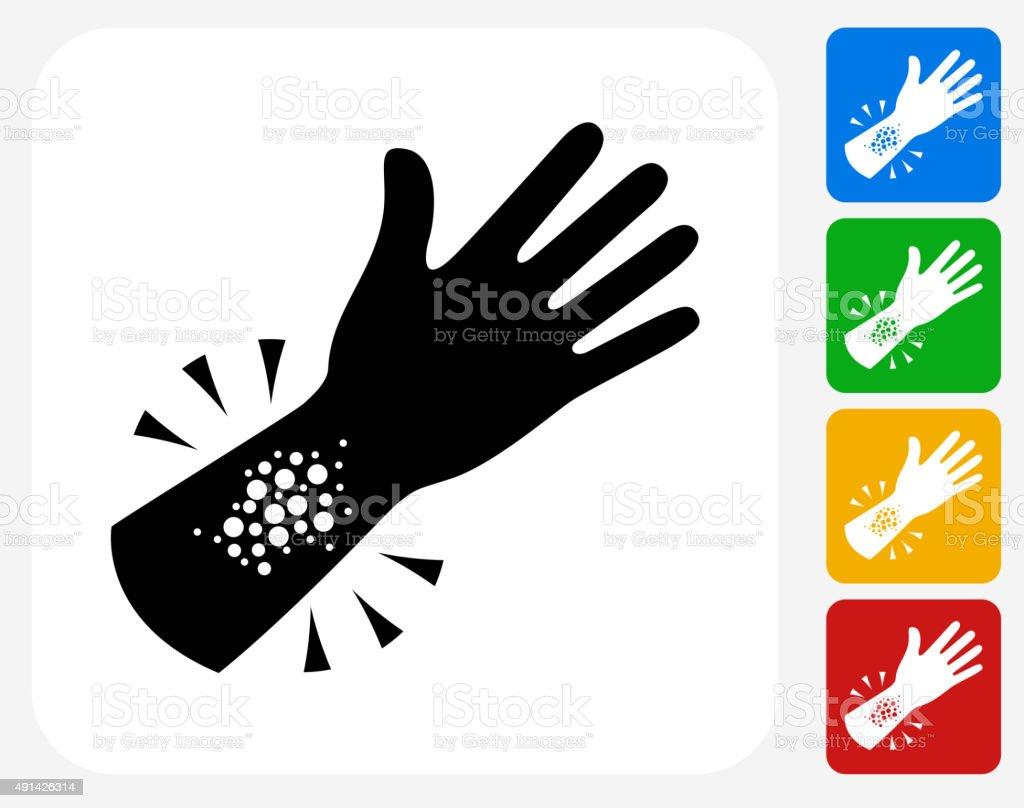 Allergy reacção plana ícone de Design gráfico - ilustração de arte em vetor