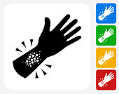 Allergy Reaction Icon Flat Graphic Design