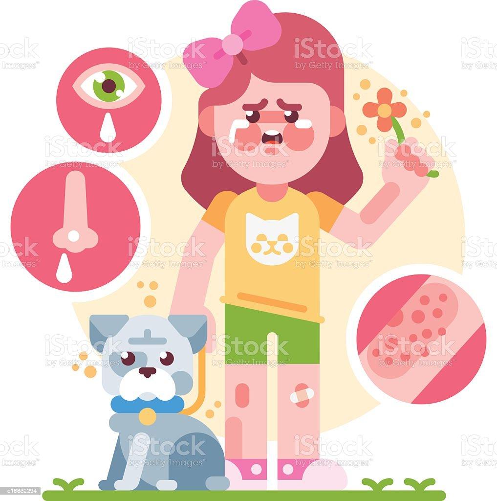 Allergy vector art illustration
